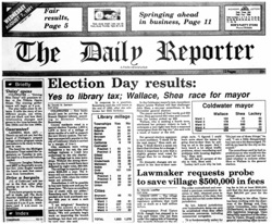 Image: 1991 Millage Vote Results